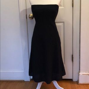 J Crew lined navy strapless dress. Size 2